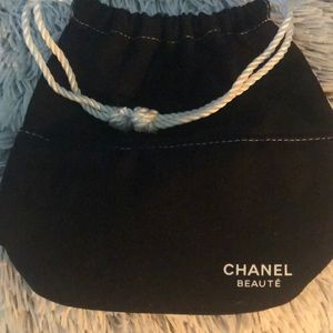 Chanel drawstring cosmetic pouch